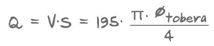 Fórmula del Caudal de Aire - Ventosa Ventex