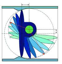 Doble excentricidad de una válvula de mariposa Eurostop