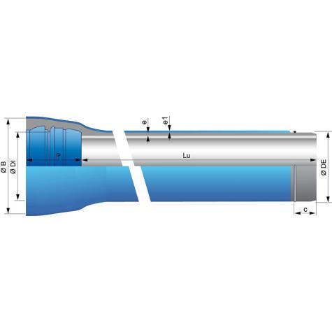 Tubo ZMU con junta Universal Standard Ve DN350-700