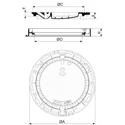 Registro PAMREX Seguridad con Superficie anti deslizante   GRIPTOP® Clase D400 – Marco redondo