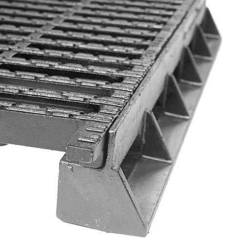 Rejilla E 600 D 400 en fundición para la gama AUTOLINEA® y TRANSLINEA®