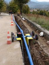 pipelaying mobile device