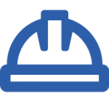 icono casco azul